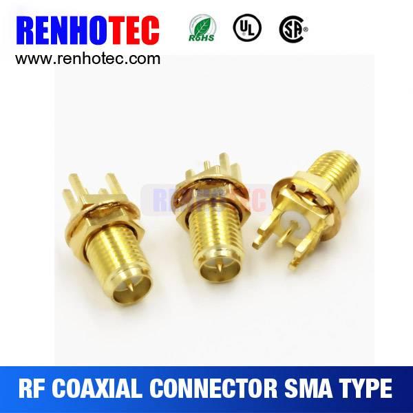 2016 Hot Thread Coupling Microstrip SMA Type RF Coaxial Connector