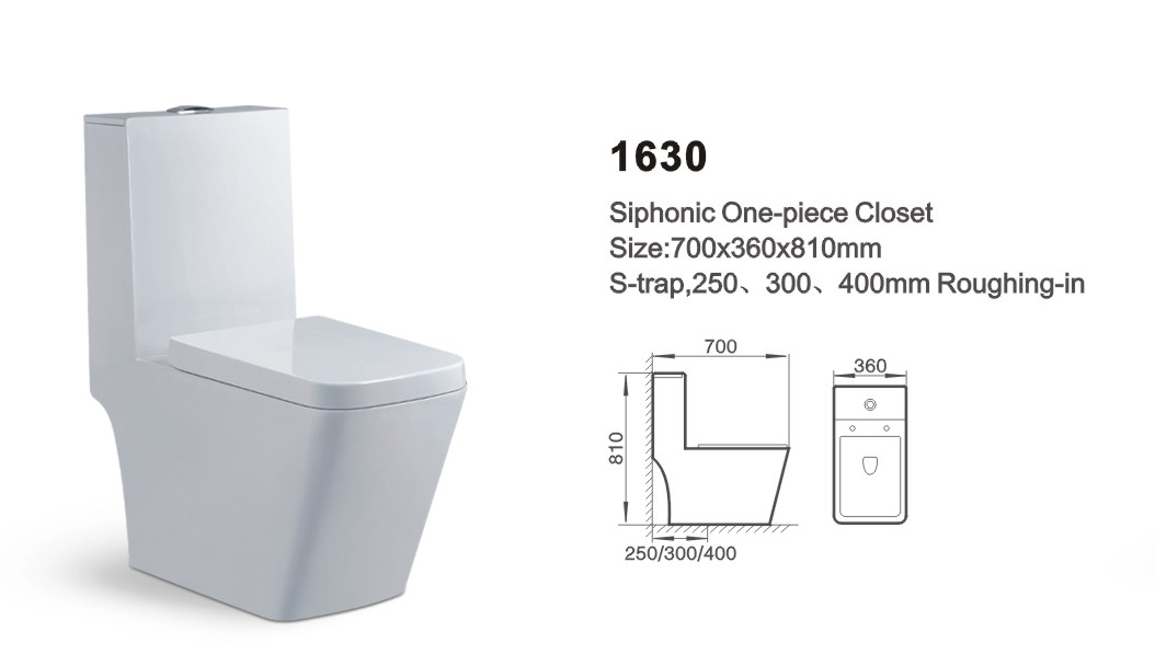 Item NO.1630A washdown one-piece toilet