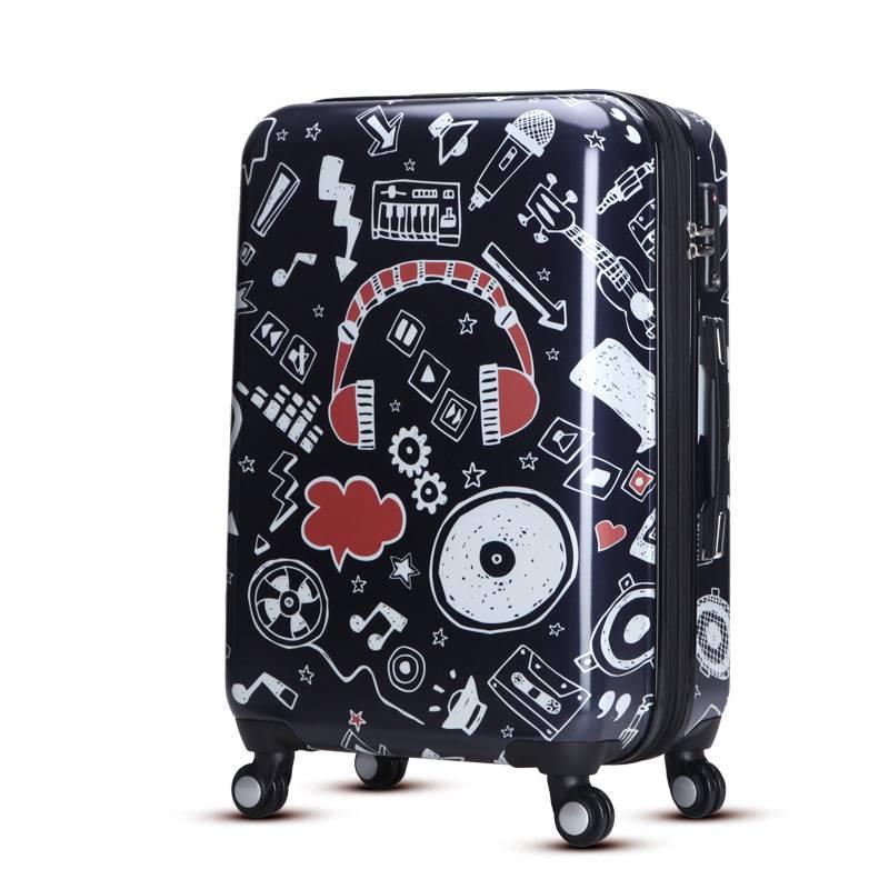 Cool music aptten ABS PC zipper luggage