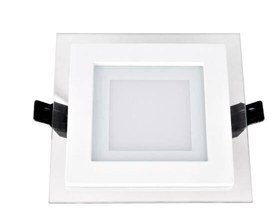 220V white/warm white 6W 12W 18W SMD5730 led glass panel light round/square