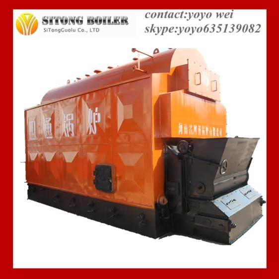 Horizontal Type 3 Pass Coal Fuel Steam Boiler