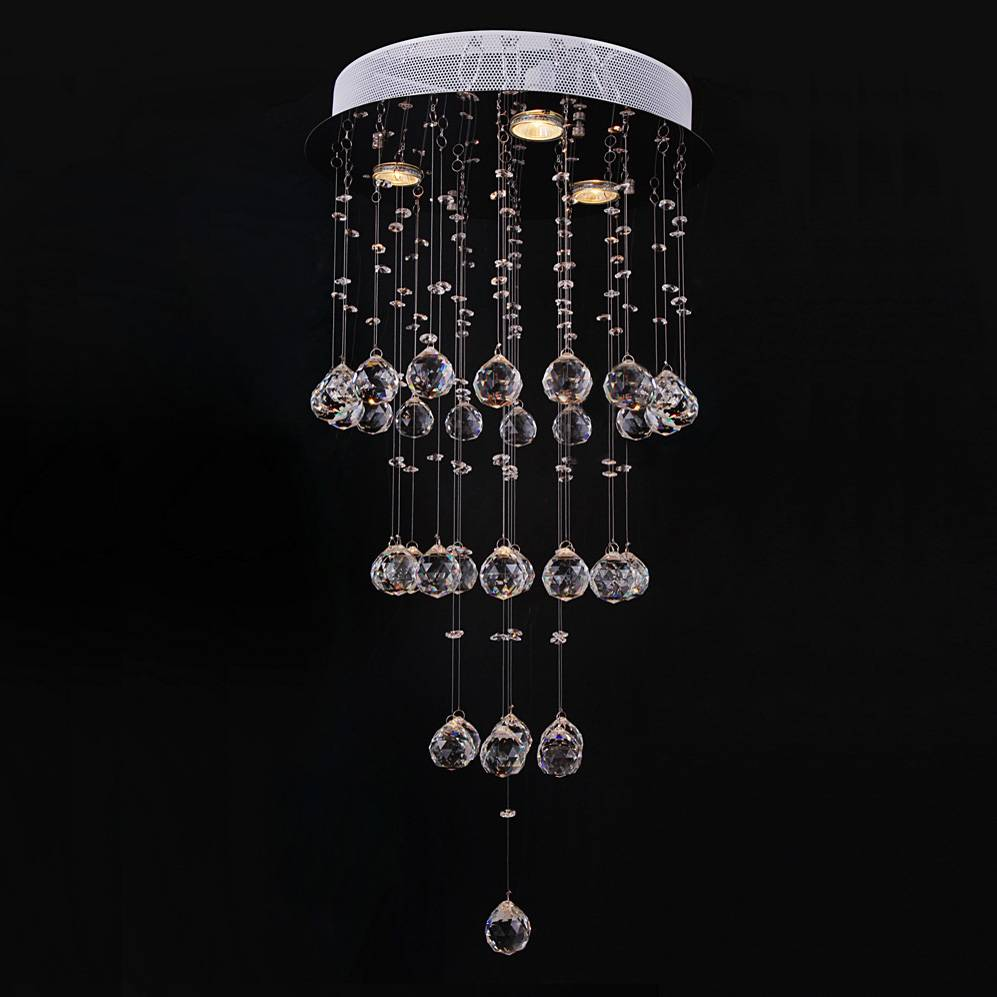 good quality and competitive price of modern crystal ceiling light/lamp  6004-3