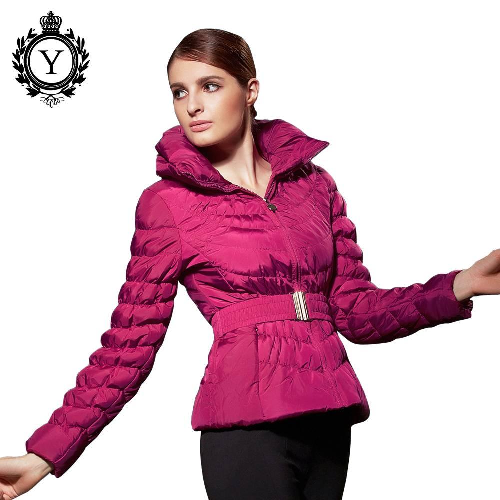 2016 COUTUDI winter fashion custom wholesale women's elegant bomber duck down coat