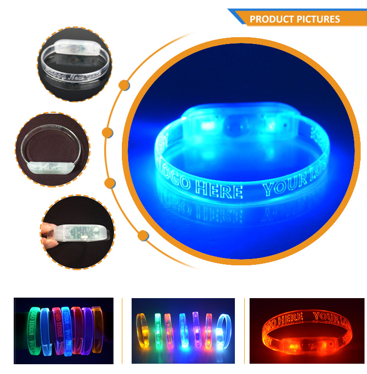 Festival Party Supplies Night Glowing Motion Sensor Led Bracelet