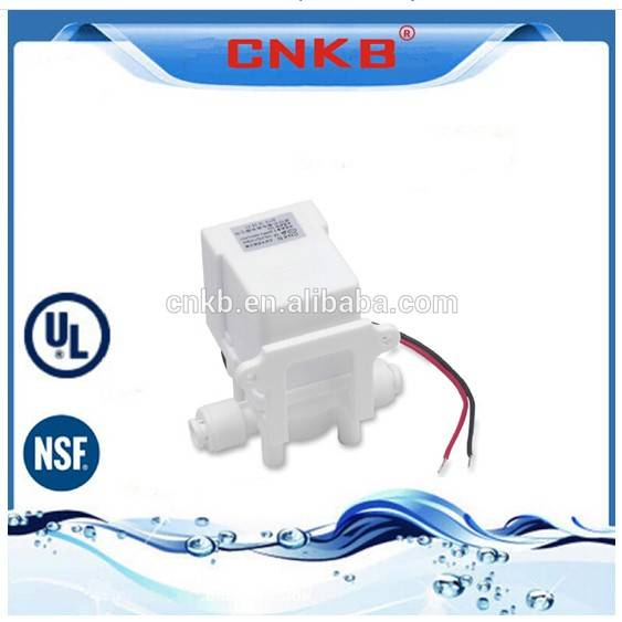 Water solenoid valve for water purification systems