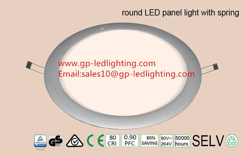 High quality round led panel light