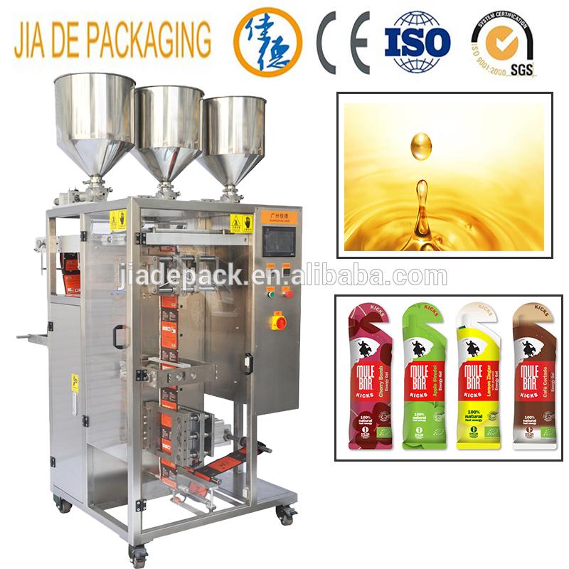irregular shaped sachet energy gel packing machine