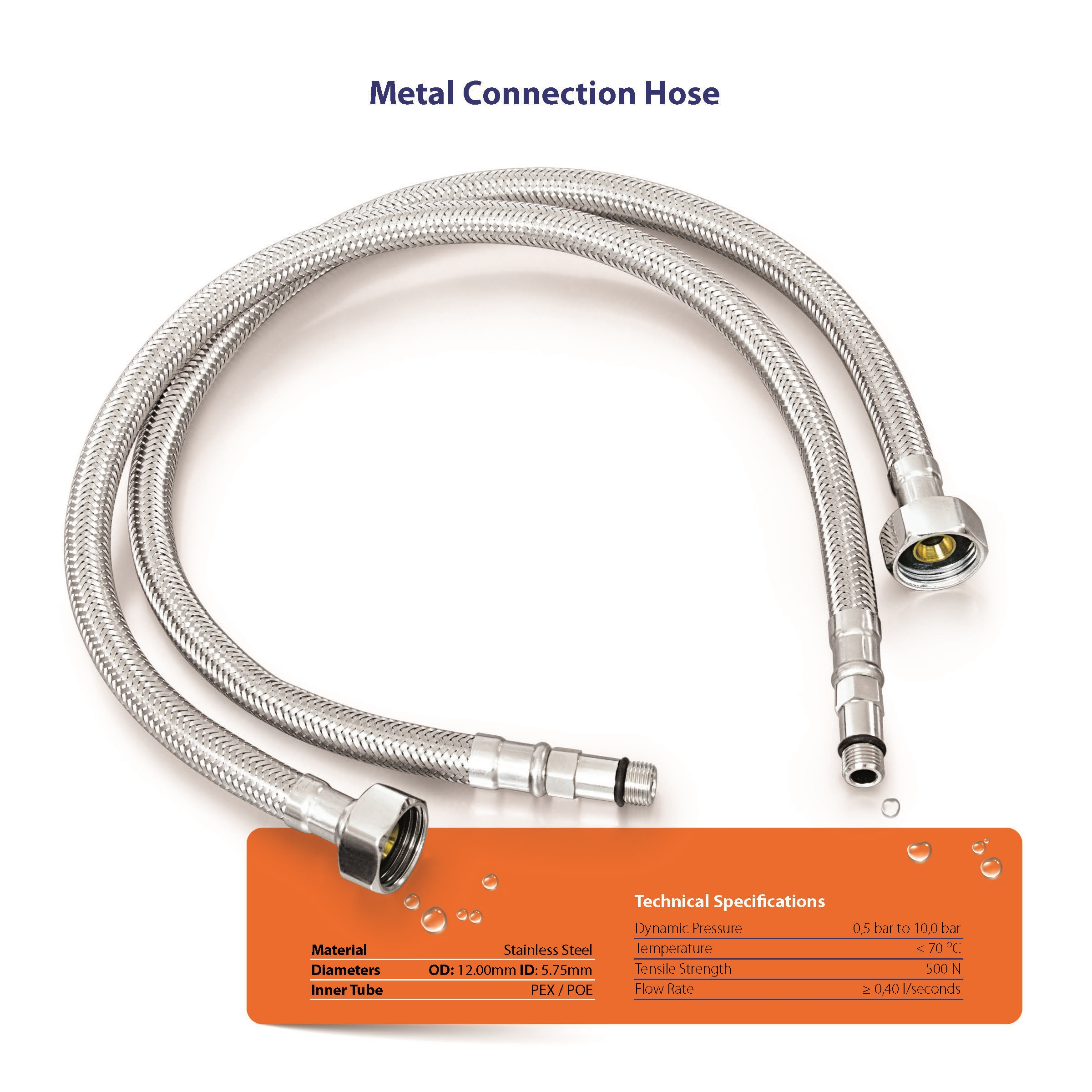 Metal Connection Hose (wire braided)