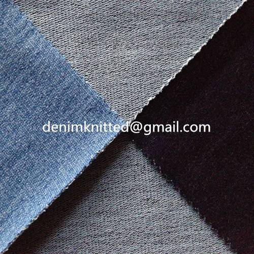 indigo knit denim like fabric for women/children's jeans