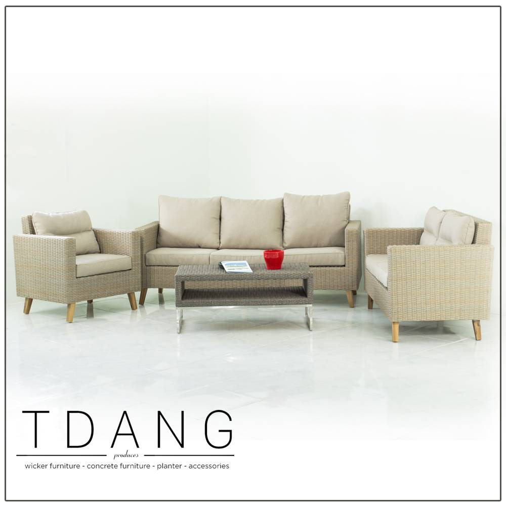 Fiji 4 Piece Sectional Seating Group with Cushions (Code TD1013)