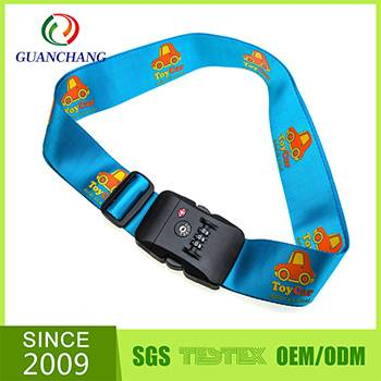 China wholesale high quality adjustable TSA customized luggage scale strap