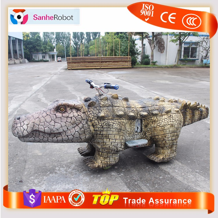 2~8 year old Boy favorite cool Crocodile toy ride electric animal scooters