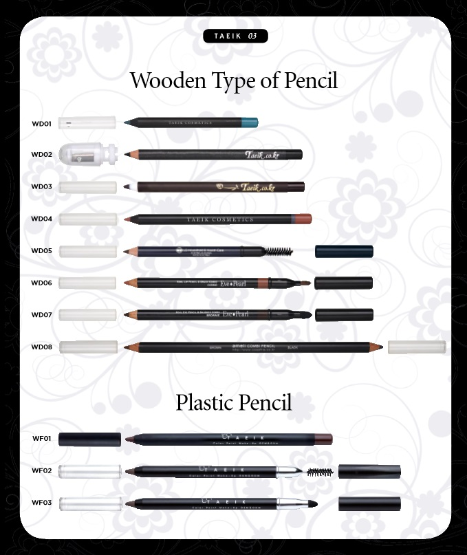 Wooden and Plastic type of Pencil