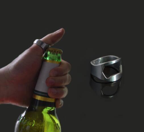Mini Stainless Steel Finger Ring Beer Bottle Opener