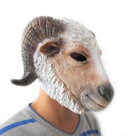 Youtumall Latex Goat/Sheep Head Mask Make You Different