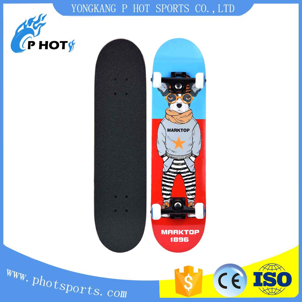 Hot selling skateboard 31 inch skateboard 7 layer Canadian Maple concave skate board longboard skate