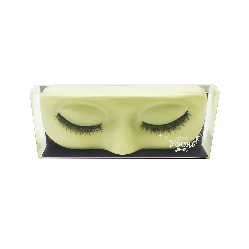 Custom transparent pink eyelash plastic packaging box