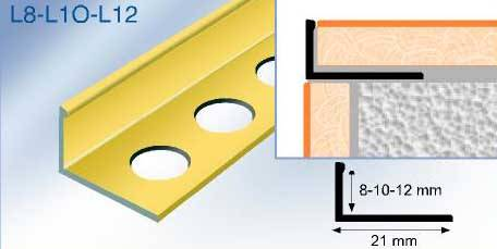 Tile edging trim - tiling trim - aluminium tile trims -  flooring trim