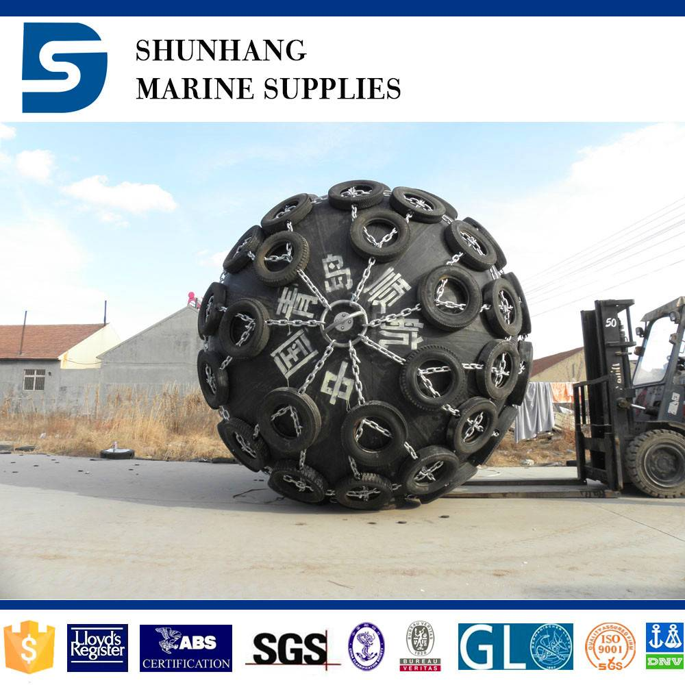 pneumatic rubber fender with high absorption