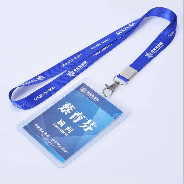 Factory Customized Printing Logo Event Lanyard With Plastic Card Holder