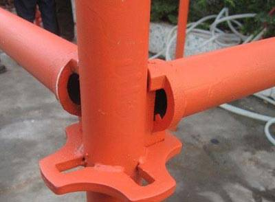 Easy installing zinc galvanized cross lock scaffolding