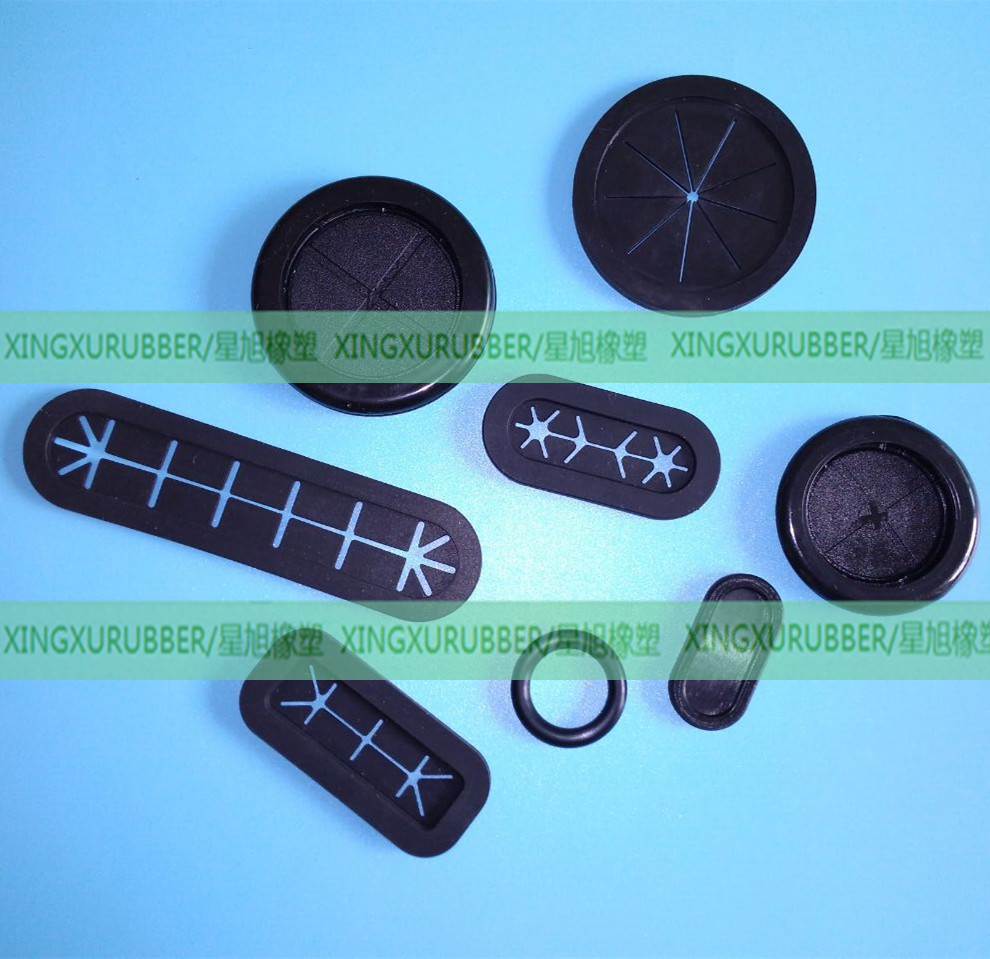 SILICONE RUBBER OVAL SHAPED GROMMET
