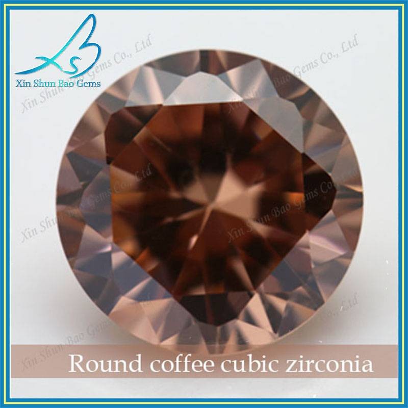 Wholesale 3mm Machine Cut Round Loose Colored Cubic Zirconia