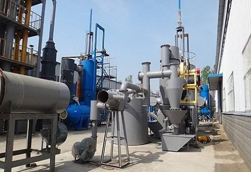 Wood waste gasifier furnace to connect with dryer / Wood waste gasification to produce combustible g