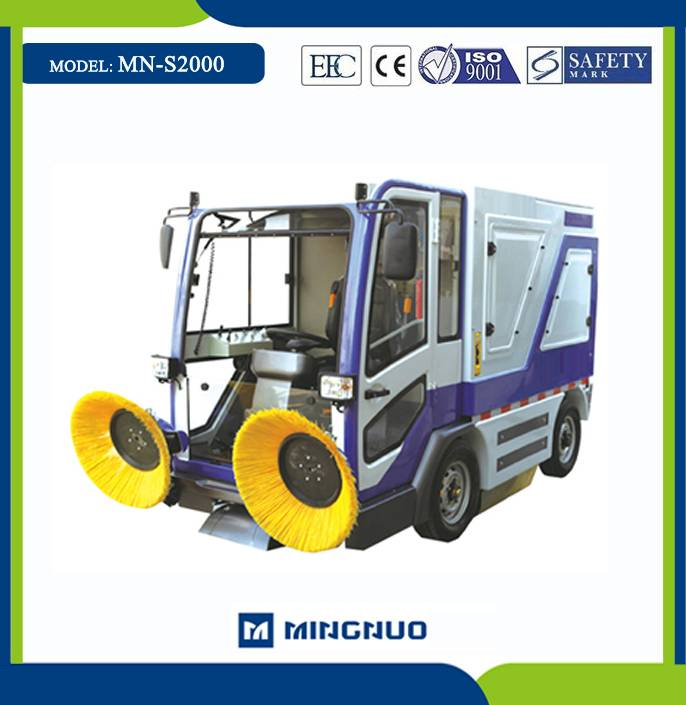 MN-S2000 road cleaning car cleaning equipment street hydraulic sweeper