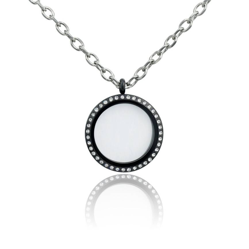Stainless steel locket pendant, floating charm pendant