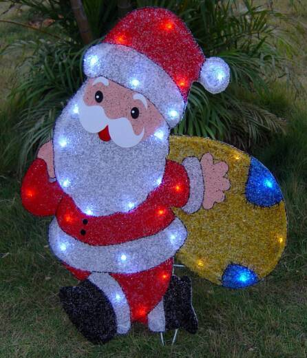 EVA&LED Christmas decorative ligts,Santa with package,xmas lights