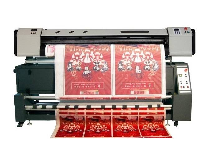 Direct dye sublimation digital textile printer