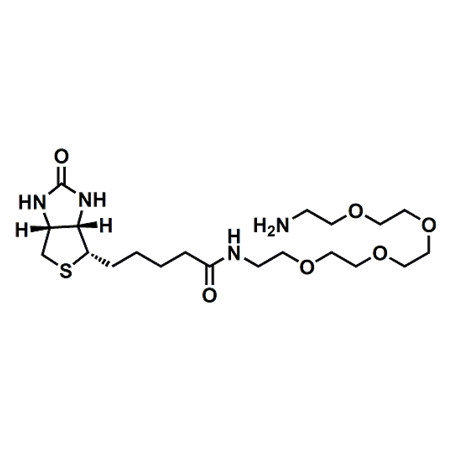 (+)-Biotin-PEG4-amine;(+)-Biotin-PEG4-NH2;CAS#663171-32-2