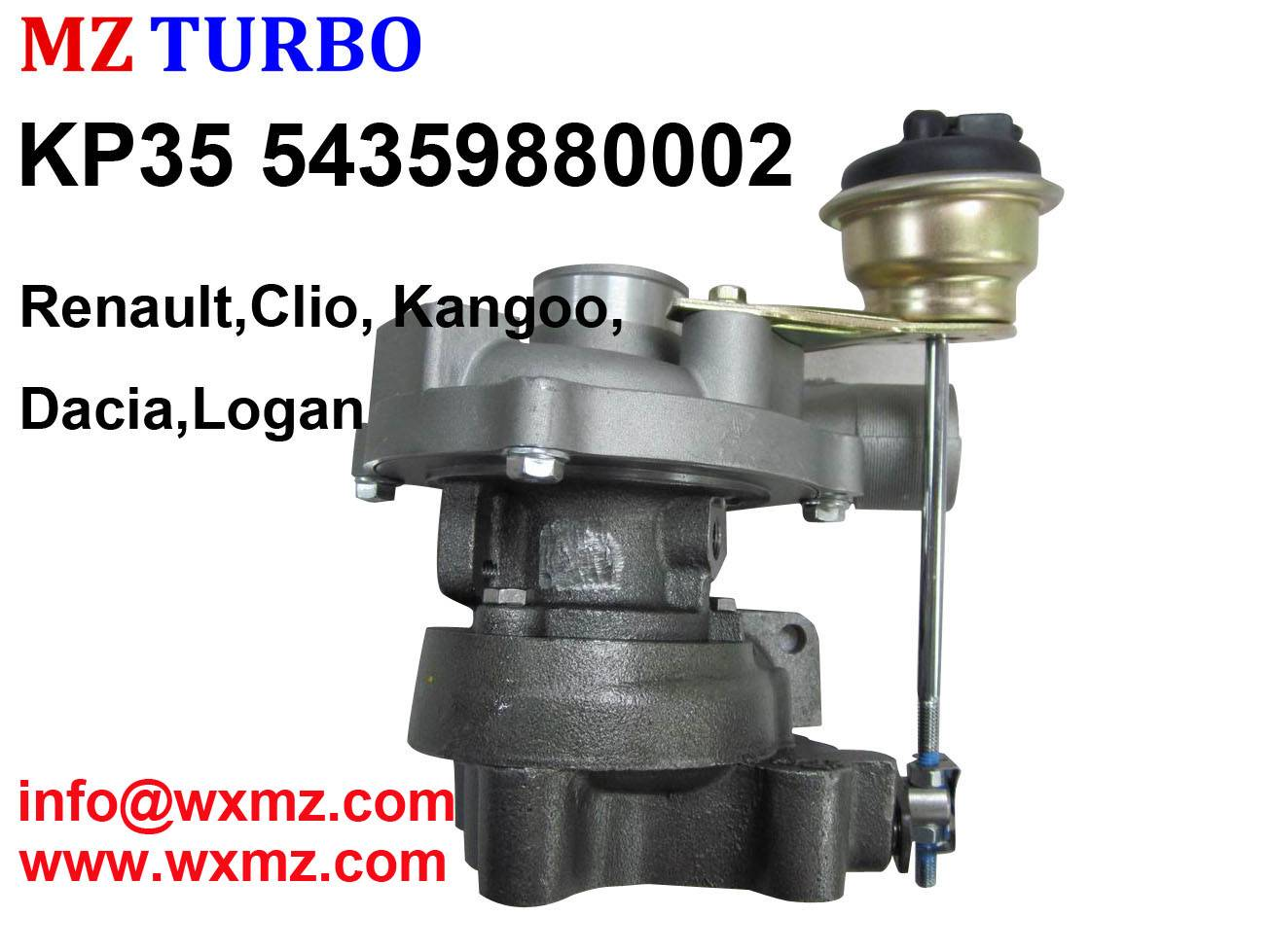 KP35 54359880002 Turbocharger Replacement of Clio, Kangoo