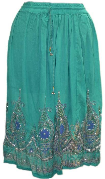 Hippie Sequin Lengha Ghagra Belly Dance Indian Skirt Boho Gypsy medium skirts