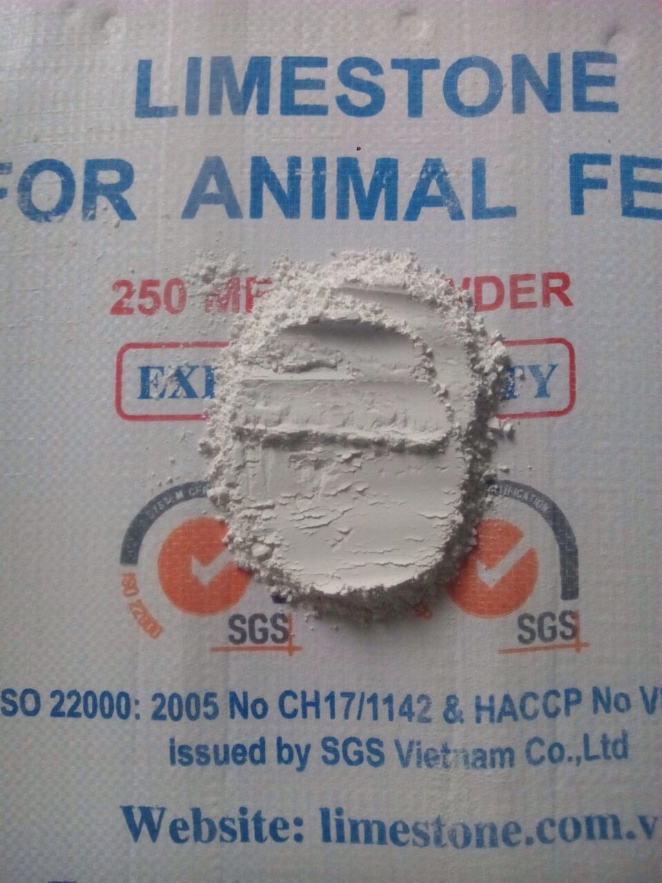 Vietnam limestone powder for poultry feed