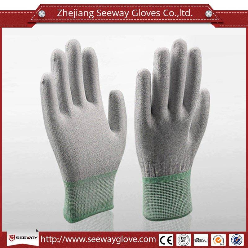 SeeWay 903 Popolar Carbon ESD PU Palm Fit Gloves