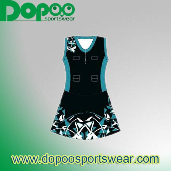 Top quality sublimation custom netball dress uniforms