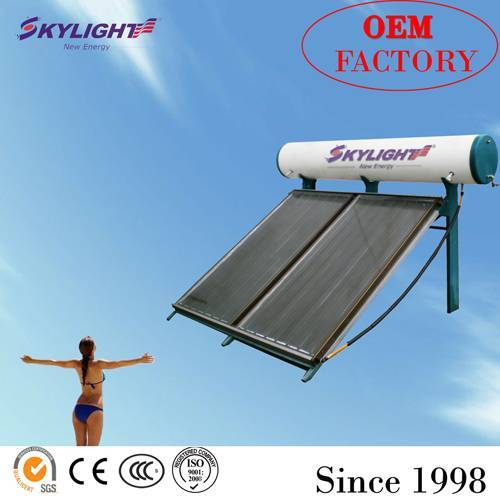 compact flat solar water heater