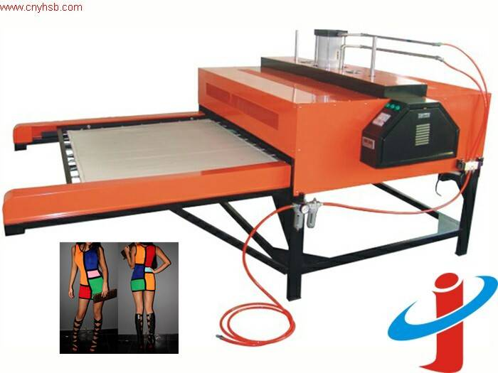 Automatic double stations sublimation heat transfer printing machine