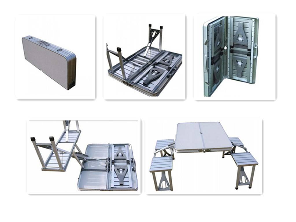 new design aluminum folding table