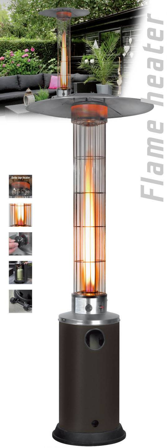 Stand patio heater LPG for garden , type umbrella with glass tube