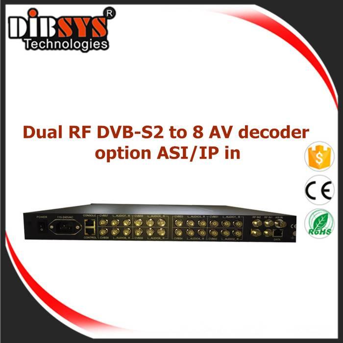 8ch Satellite FTA Receiver and Decorder -IRD1208