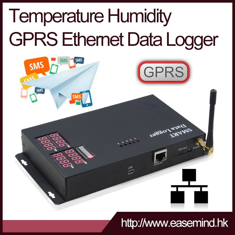 Pulse Counter GPRS Data Logger sms alarm thermometer