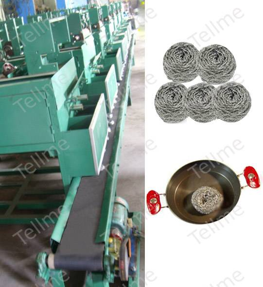 stainless steel scourer making machine
