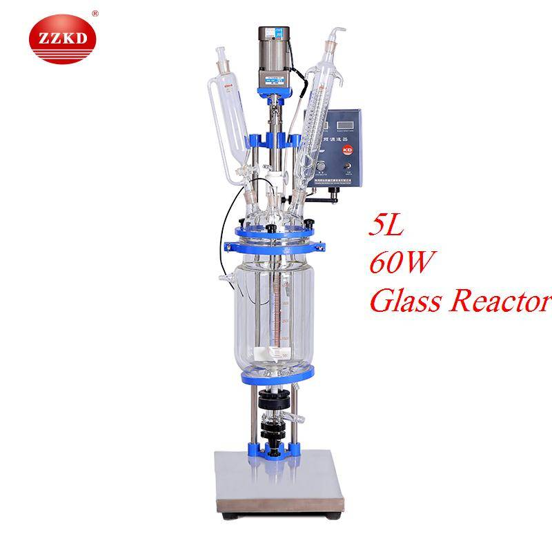 S-5L Borosilicate Jacketed Vacuum Glass Reactor Vessel