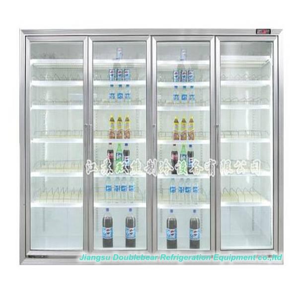 Four door upright luxurious display refrigerator,Convenience Stores display refrigerator