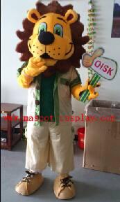 OISK Professional custom mascot costume lion mascot adult size, free shipping