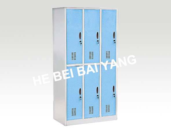 C-39 Six Doors Plastic-sprayed Clothes Changing Cabinet