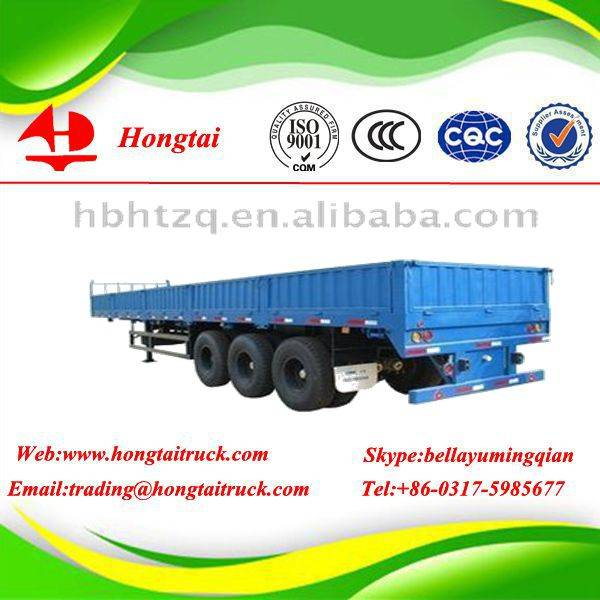 3 axles side wall semi trailer